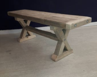Bench, seat to match X frame dining table