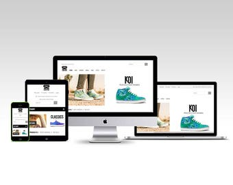 Web design - Urban SHOES - Custom Website Design eCommerce