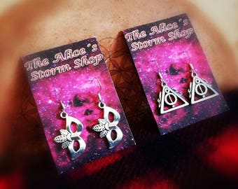 Fantasy silver earrings