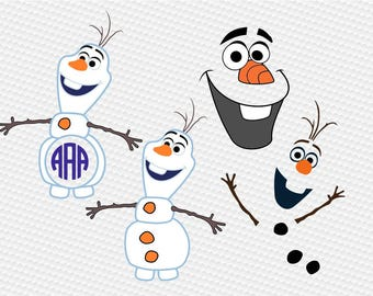 Snowman svg, monogram svg, clipart Cut Files Silhouette Cameo Svg for Cricut and Vinyl File cutting Digital cuts file DXF Png Pdf Eps vector