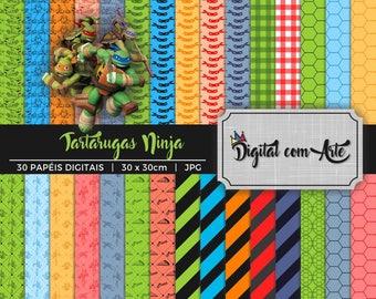 Teenage Mutant Ninja Turtles Digital Paper