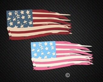distressed american flag svg, Usa flag svg, Patriotic svg, 4th of july svg, SVG Files, Cricut, Cameo, Cut file, Clipart, Svg, DXF, Png, Eps