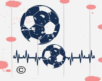 Soccer svg, Soccer mom svg, Distressed svg, Heartbeat svg, Shirt SVG Files, Cricut, Cameo, Cut file, Files, Clipart, Svg, DXF, Png, Pdf, Eps