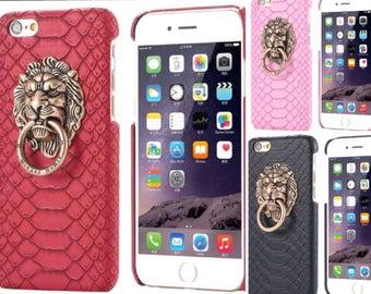Lion Head Snake Skin IPhone Case