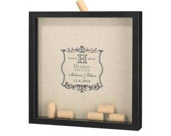Guestbook Alternative Drop Box Wine Corks DIY | Ready to Customize | Customization Available | Monograms