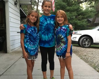 Kids Tie-Dye T-shirt - Customized (Make sure to check details)