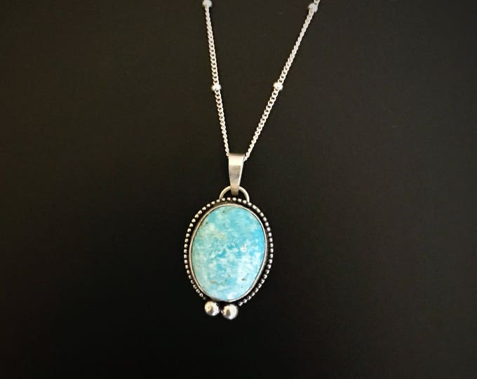 Lone Mountain Turquoise Sterling Silver Necklace