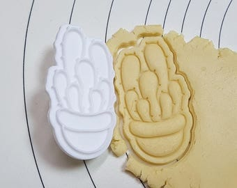 Cactus Echinopsis Cookie Cutter and Stamp