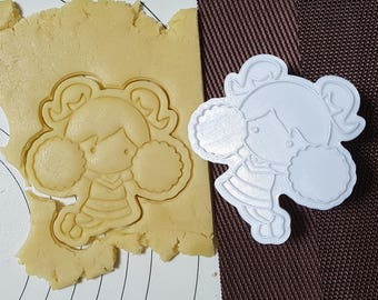 Cheer Girl Cookie Cutter and Stamp