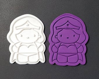 Cute Wonder Woman  Cookie Cutter and Stamp