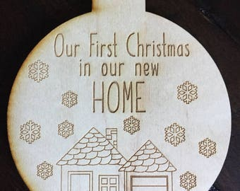 Our First Christmas In Our New Home Ornament- First Christmas Ornament- First Home Ornament