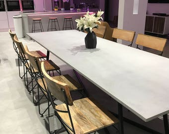 concrete table etsy. Black Bedroom Furniture Sets. Home Design Ideas