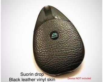 Suorin Drop Vape Skin Black textured Faux Leather Skin