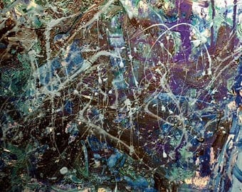Abstract Painting, 25% OFF SALE with coupon code JULYSPECIAL25 at checkout: Zittern