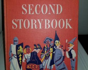 Beautiful anthology of children's stories with colorful illustrations, Vintage activity magazine included