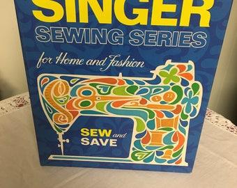 Vintage Singer sewing book.