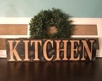 Rustic Farmhouse Kitchen Sign