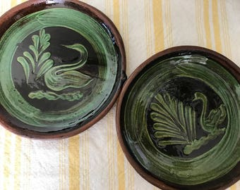 Set of 2 handmade platters