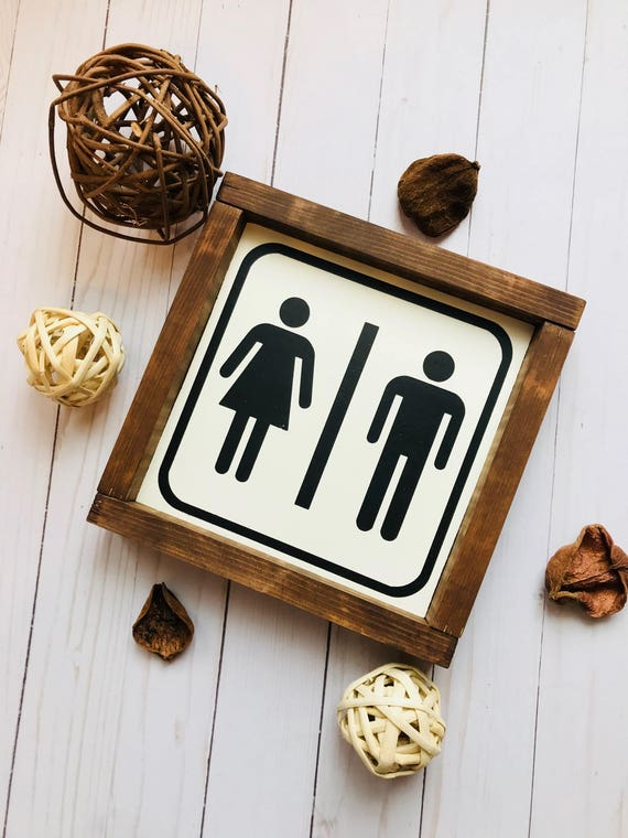 Farmhouse decor bathroom decor bathroom sign restroom sign for Bathroom decor etsy