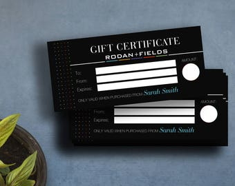 Rodan and Fields Gift Card, R + F Gift Certificate, Rodan + Fields Gift Certificate, Fast Free Personalization,For Independent Consultants 7