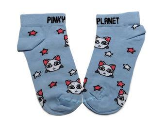 Cat socks/ Cosmic cats/ Gift for her