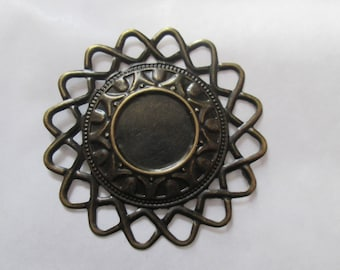 a round stand bronze 50 mm to 18 mm cabochon