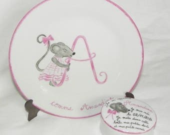 Plate and box pattern mouse birthday gift