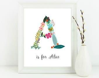 custom name print, christening gift , new baby gift, personalised nursery decor, personalised name print, new baby gift, kids room decor
