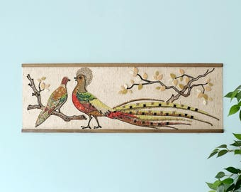 Vintage Beaded/Stone Bird Art