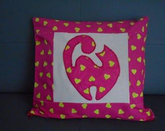 "Cushion cover ""shadow cat"""