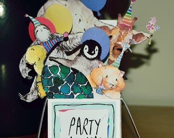 Party Animal Pop Up Card