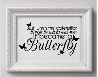 Just when the Caterpillar   print   * Printable 8 x 10  print   Instant Download /  1 j peg