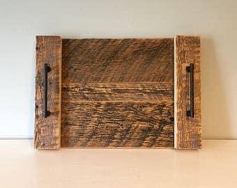 Medium Rustic Serving Tray - Vintage Reclaimed Barn Wood