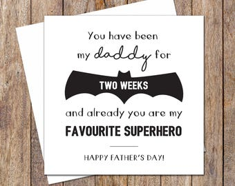 Father's Day Cards. Customised Father's Day Card. First Fathers Day Card. Superhero Dad. Fathers Day Card. Card for Dad. Favourite Superhero