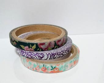 Floral Washi Tape- Set of 3