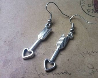 Heart arrow - earrings ~ silver ~