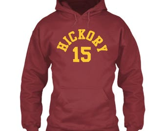 Hoosiers Movie Hoodie Hickory 15 Jersey Red Size S M L XL 2XL 3XL 4XL 5XL Jimmy Chitwood Indiana High School Basketball Film Free Shipping