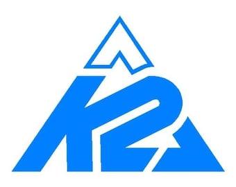 K2 Skate Snowboard Ski Logo Vinyl Decal Sticker