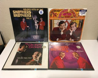 The Smothers Brothers - Lot of 4  New & Factory Sealed Records!   Smothers Comedy 1960s Folk