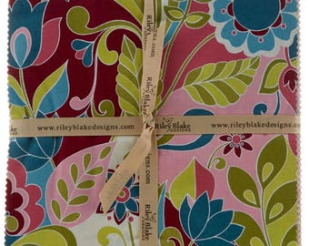 "Botanique 10"" Stackers/Junior Layer Cake by Lila Tueller/ Riley Blake - 18, 10"" x 10"" Precut Fabric Squares"