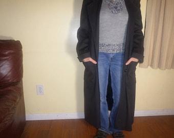 Womens Black Trench Coat,Ladies Black Trench Coat