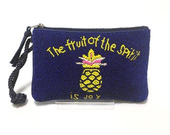 Swaraj Bag pineapple bead 2WAY pouch beads embroidery chain bag Pochette