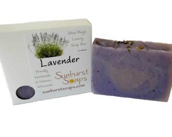 Lavender Shea Magic Luxury Soap - 4 oz, homemade soap, lavender, shea butter, coconut oil, bar soap, best seller, gift for her, gift for him