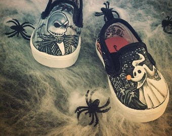 Jack Skellington and Zero shoes