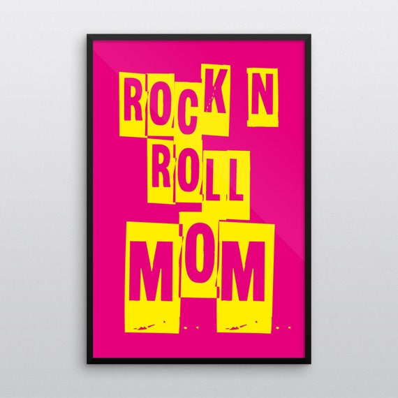 ROCK N ROLL MOM | Wall Art | Poster