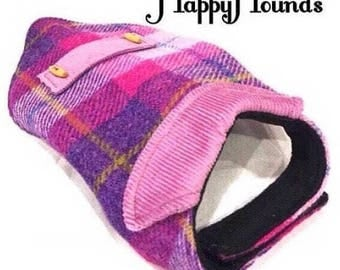 Stunning Pink/Lilac and soft chequer weave luxury Harris Tweed Coat/Jacket. Fleece lining for added warmth.