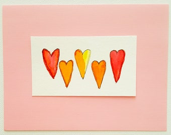 so much love watercolor greeting card