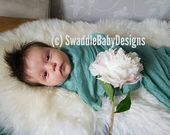 Turquoise Swaddle Blanket - 110cm x 170cm