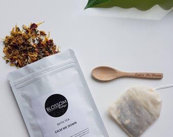 Bath Tea Calm Me Down Herbal Natural Bath Soak