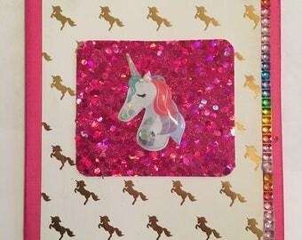 Sparkle Unicorn Card